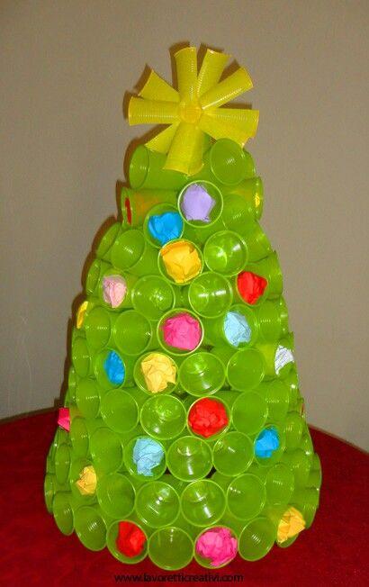 Albero Di Bicchieri With Images Christmas Crafts Diy