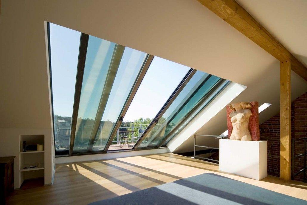 Sunshine Berlin Projekte Portfolio Raster Galerie Dachloggia Dachschiebefenster Dachbalkon