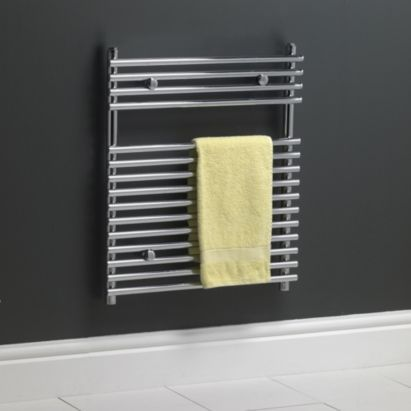 Kudox Chrome Bar-on-Bar Towel Rail (H)700 x (W)500mm 292W 996Btu, 5060069427199