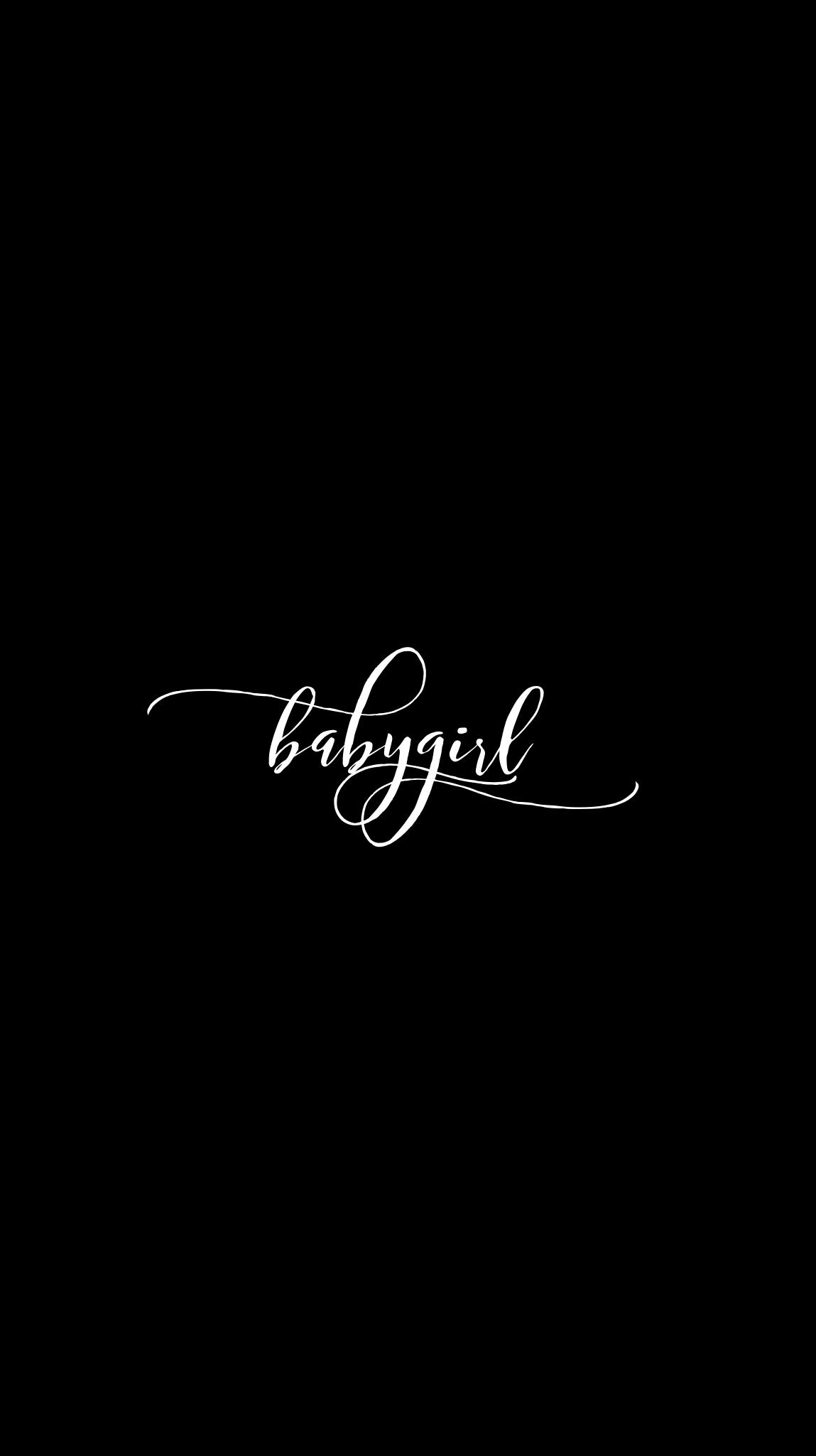 BlckBabygirlCalligraphy Edit Mobile Wallpaper EvaLand