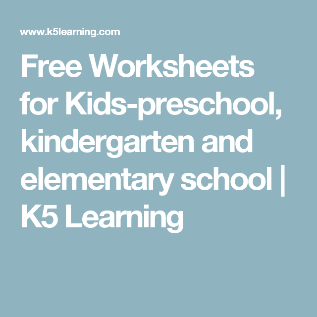 Free Worksheets for Kids-preschool, kindergarten and ...