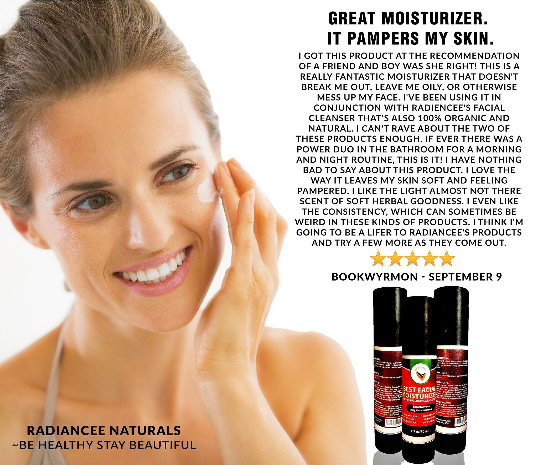 Best Anti Aging Natural Facial Moisturizer for Dry & Rough Skin