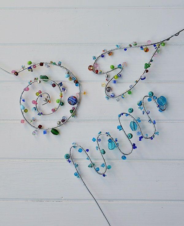 Photo of Blumenstecker aus Draht und Perlen selber machen – Smillas Wohngefühl