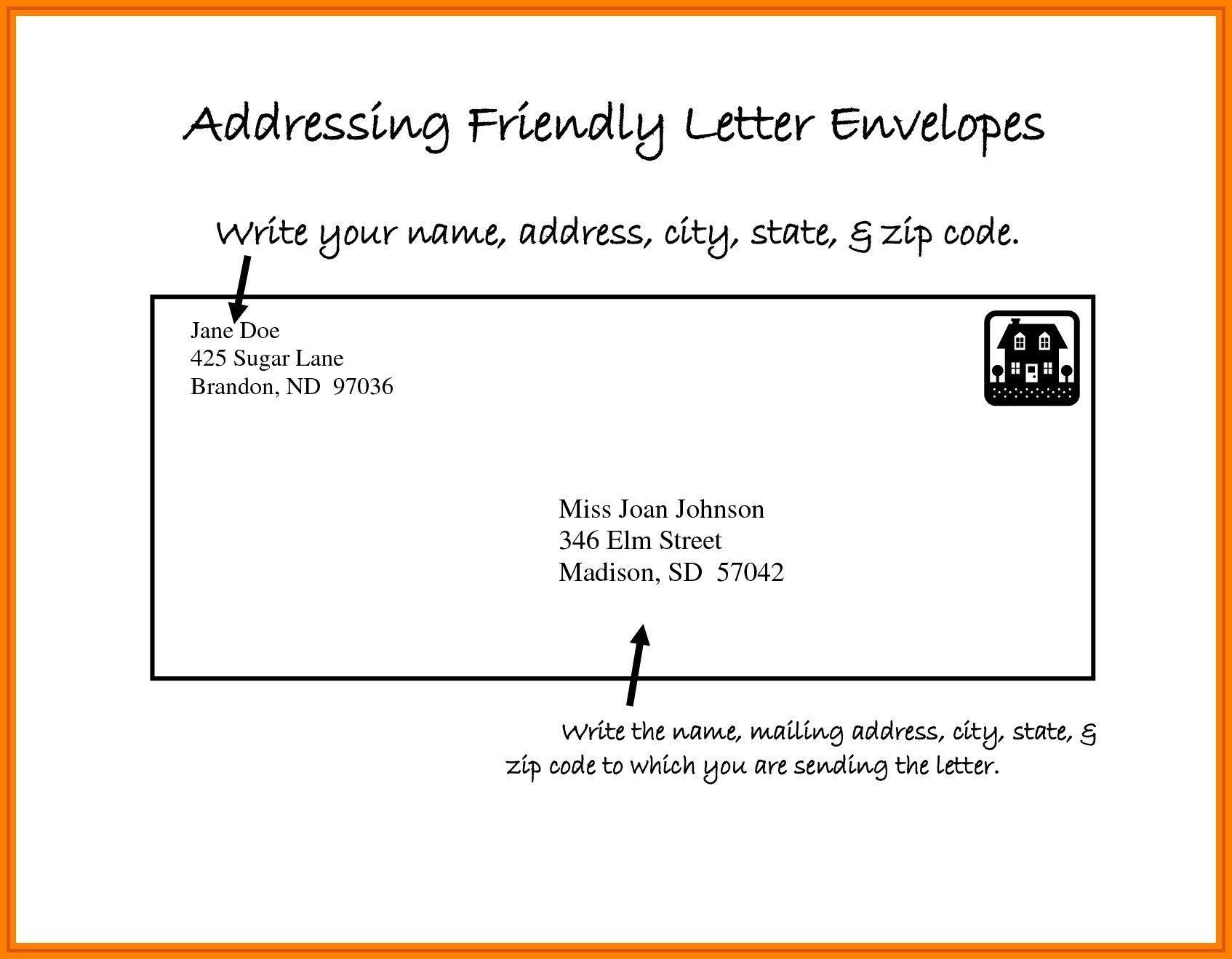 Addressing A Business Letter Envelope from i.pinimg.com