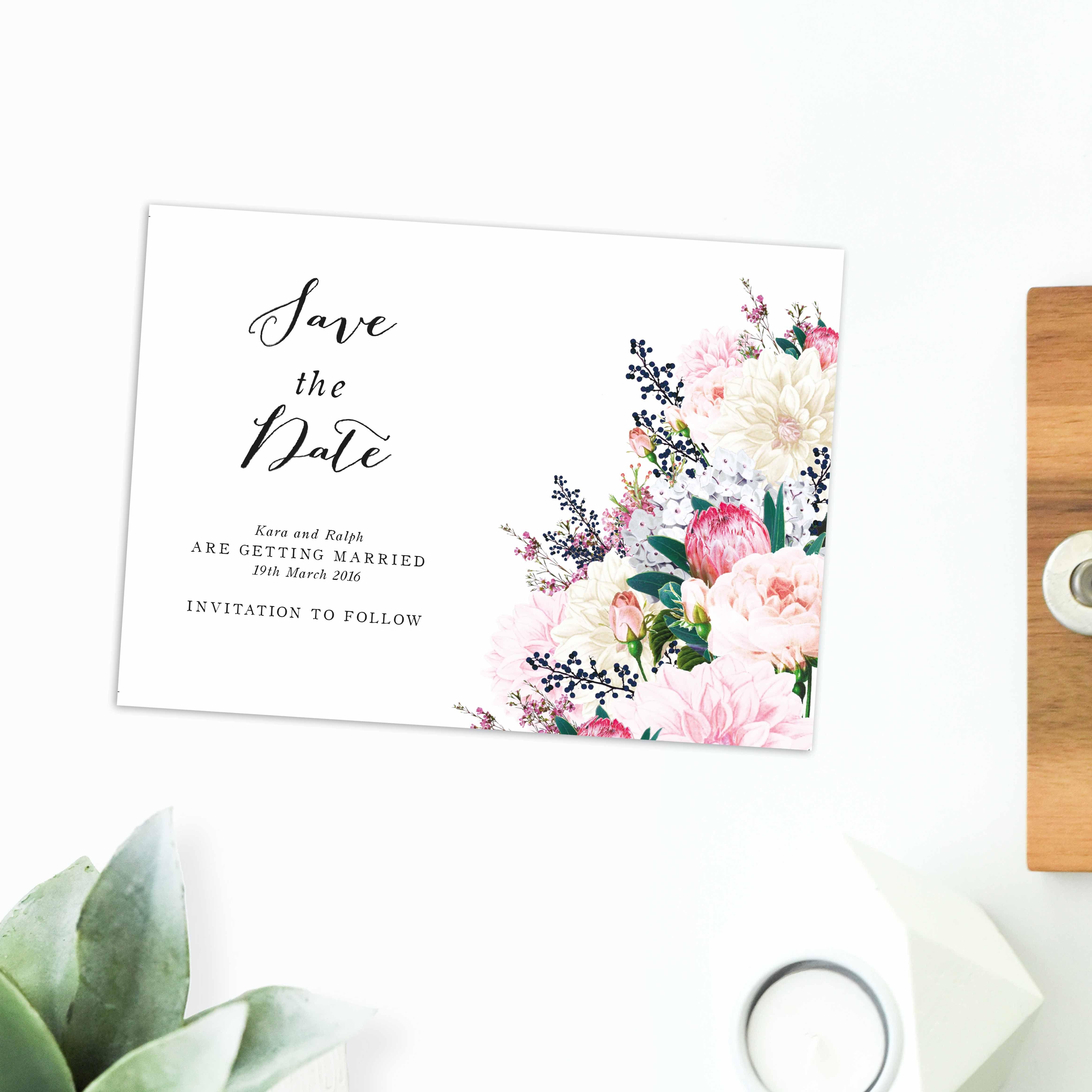 Australian Botanical Wedding Invitations | Botanical wedding