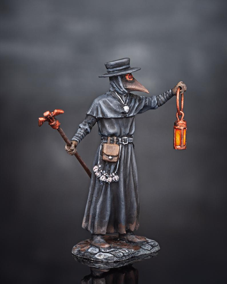 Plague Doctor Miniature Figurines Medieval Hand Painted ...