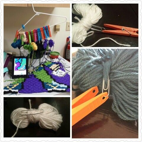 DIY bobbin holder for c2c graphgan crochet yarn dispenser #diyyarnholder DIY bobbin holder for c2c graphgan crochet yarn dispenser #diyyarnholder