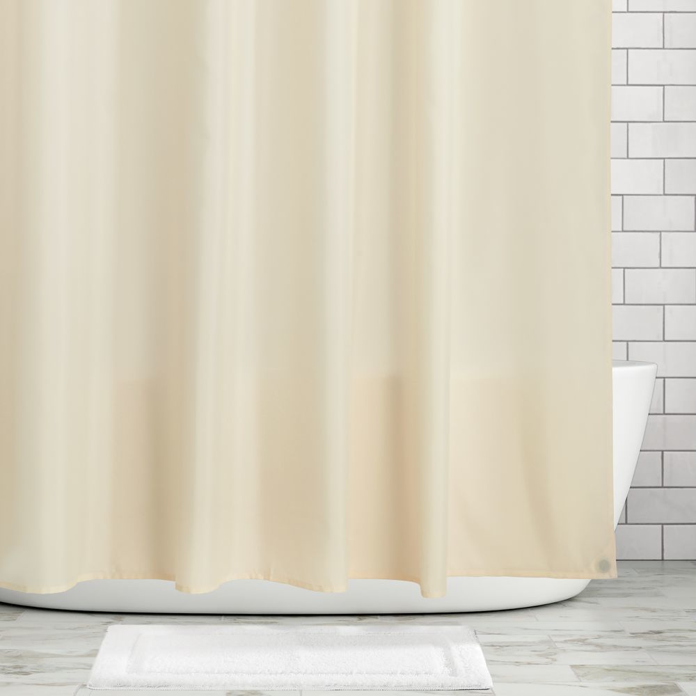 Water Repellent Fabric Shower Curtain Liner In White 72 X 72