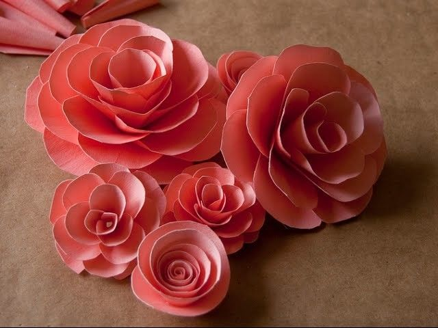 How to make paper roses step by step - Easy paper flower making ...