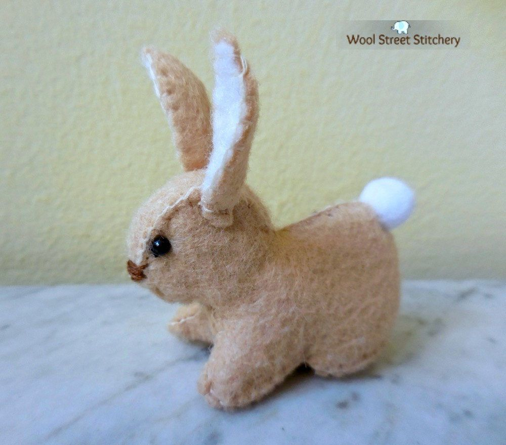 SOLD. Easter bunny by WoolStreetStitchery on Etsy