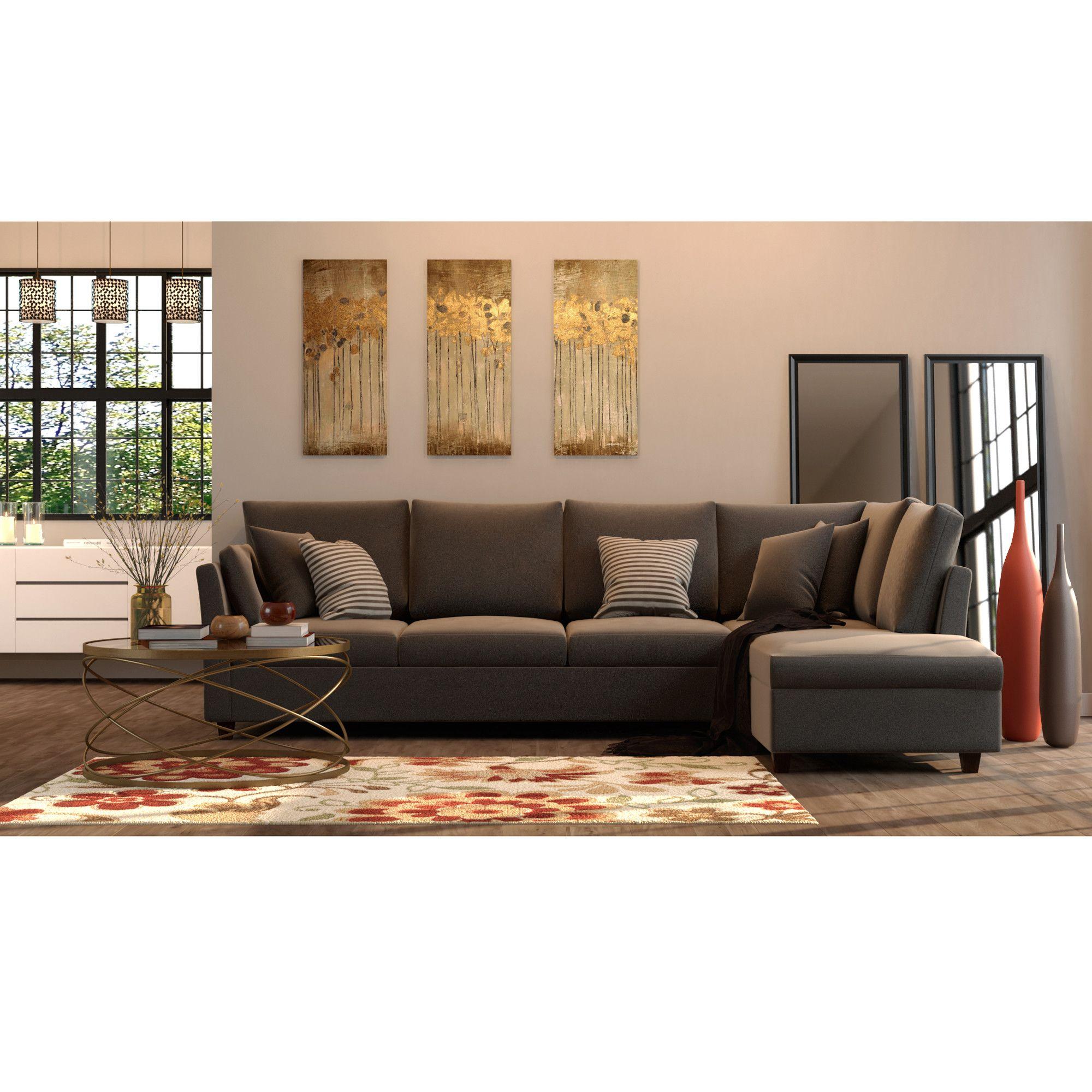 Golden Contemporary Living Room Contemporary living room