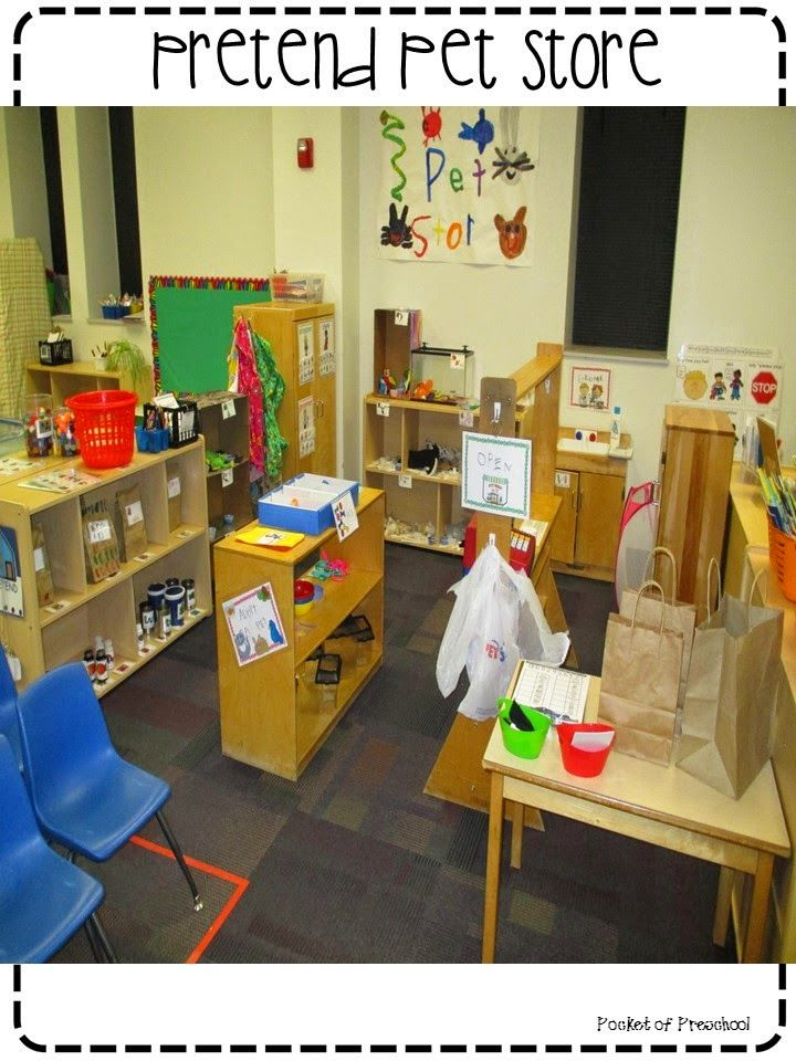 Pet Store In The Dramatic Play Center In A Preschool
