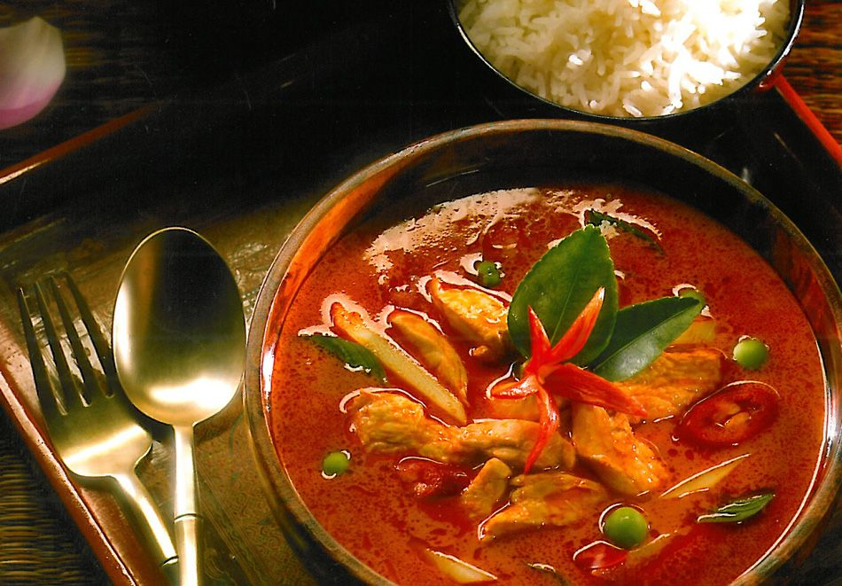 Red curry with chicken from thailand yummies love pinterest it starts with a homemade thai red curry paste this is a quick and easy curry stir fry made with chicken coconut milk and curry forumfinder Choice Image