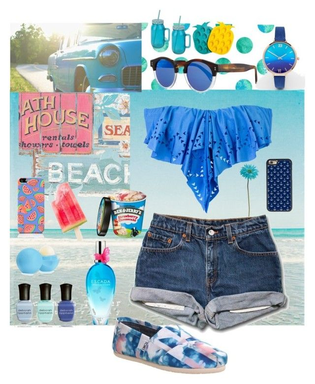 """""""#Sumerrrr☀️"""" by anastasiat4 ❤ liked on Polyvore featuring L*Space, Casetify, CellPowerCases, Illesteva, Deborah Lippmann, Eos, ESCADA, ASOS, Sunnylife and Allstate Floral"""