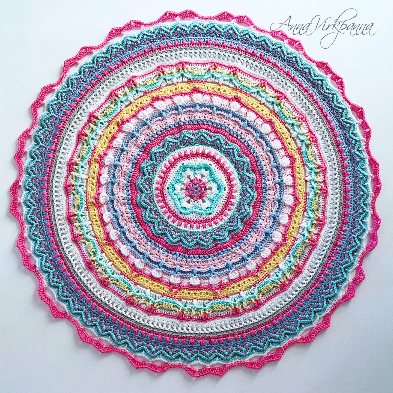 Unicorn Mandala Cal Del 6 Part 6 Crochet Stuff Crochet Mandala