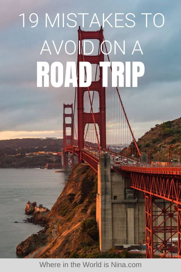 Road Trip Tips: 19 Mistakes to Avoid When on A Road Trip #usroadtrip