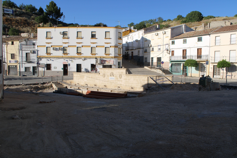 recuperación del pilar de la fuente de la villa
