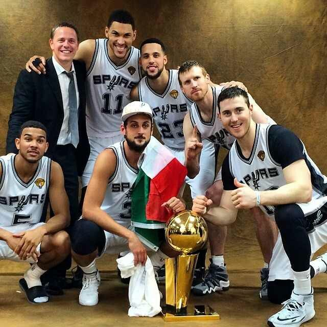 We have the Most Valuable Bench! MVB!SPURS 2014 NBA CHAMPIONS- Cory Joseph, Marco Belinelli, Jeff Ayres, Austin Daye, Matt Bonner, and Aron Baynes