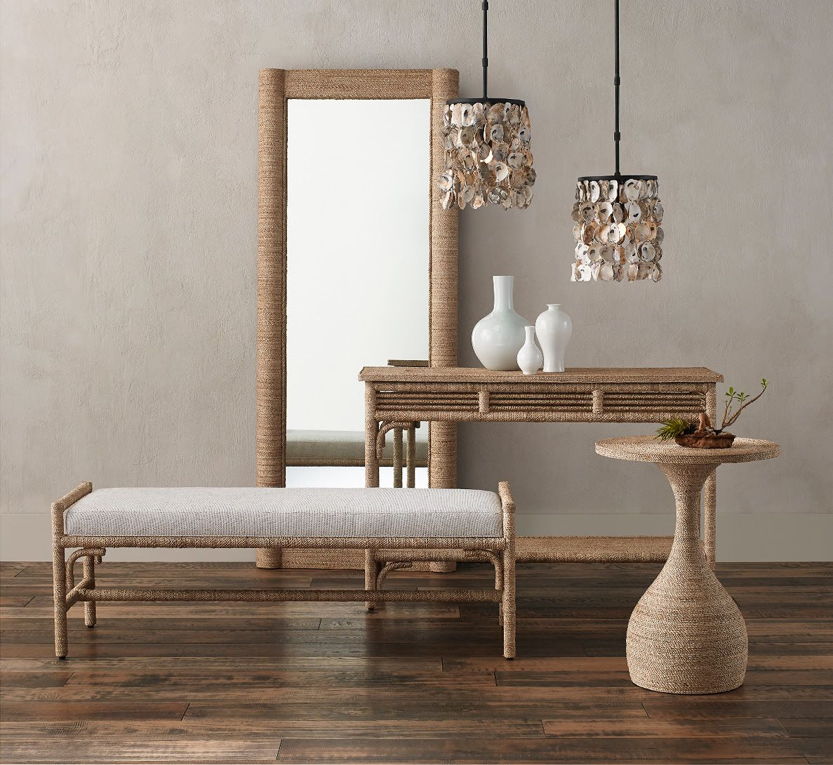 Hand Wrapped Abaca Rope Furniture in 2020 Home decor