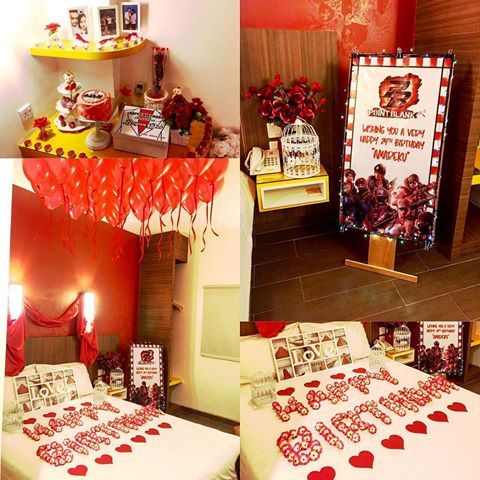 how to decorate a hotel room for boyfriend birthday birthday presents ideas decoration of. Black Bedroom Furniture Sets. Home Design Ideas