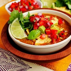 Restaurant-Style Chicken Tortilla Soup is thick and hearty, with bold southwestern flavors!