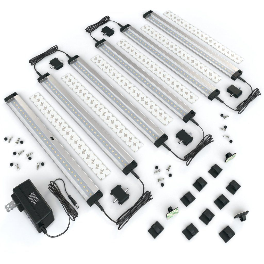 6 12 Inch Panels Led Dimmable Under Cabinet Lighting Deluxe Kit Led Under Cabinet Lighting Under Cabinet Lighting Cabinet Lighting