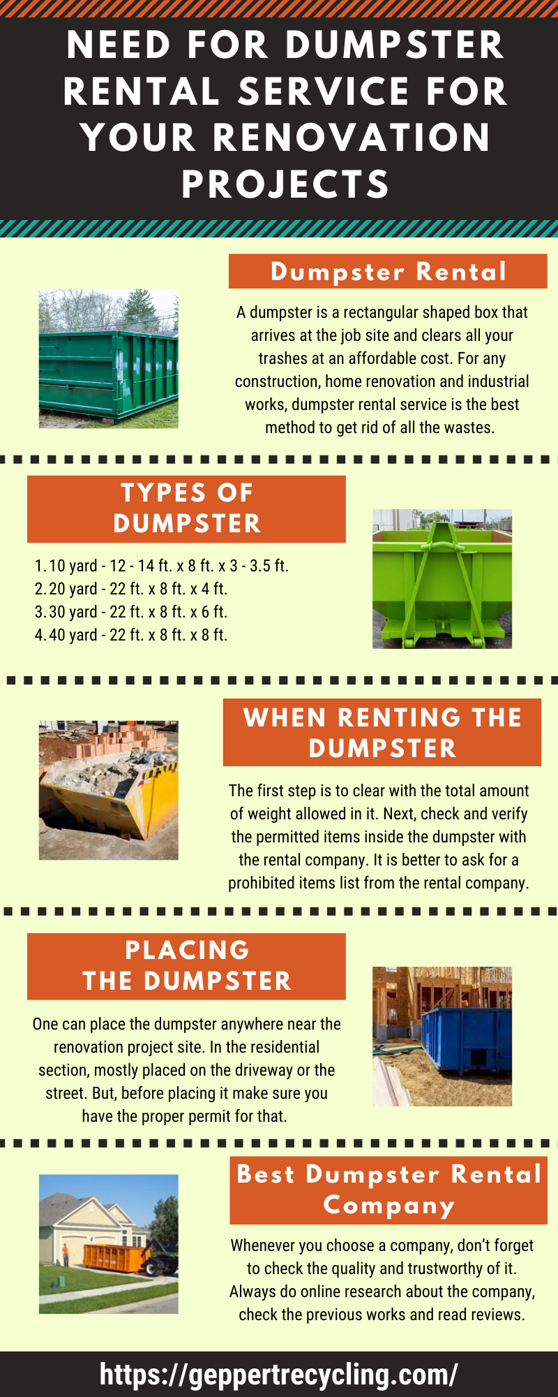 Need For Dumpster Rental Service For Your Renovation Projects Dumpster Rental Renovation Project Dumpster