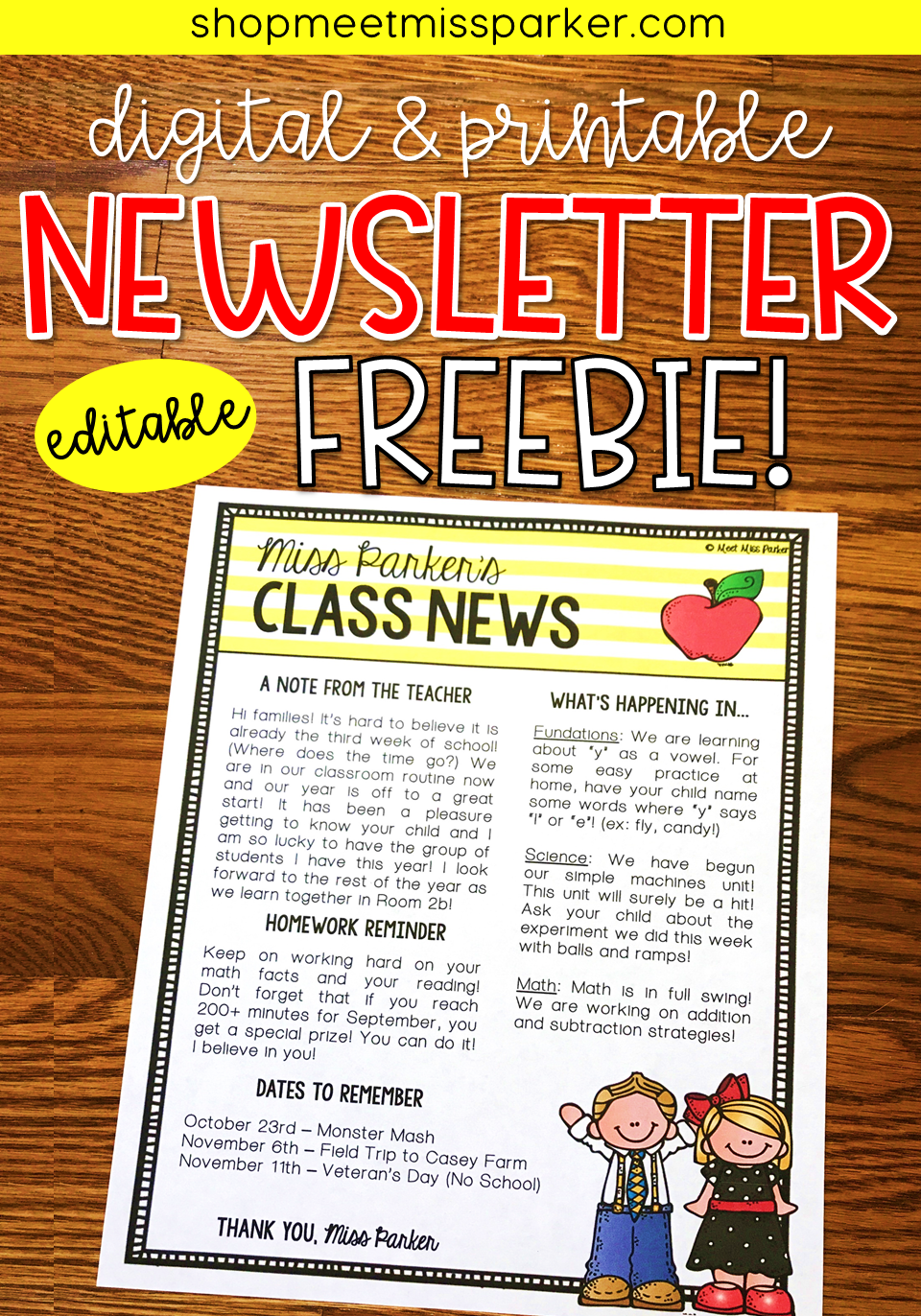 newsletter template editable free digital printable meet miss
