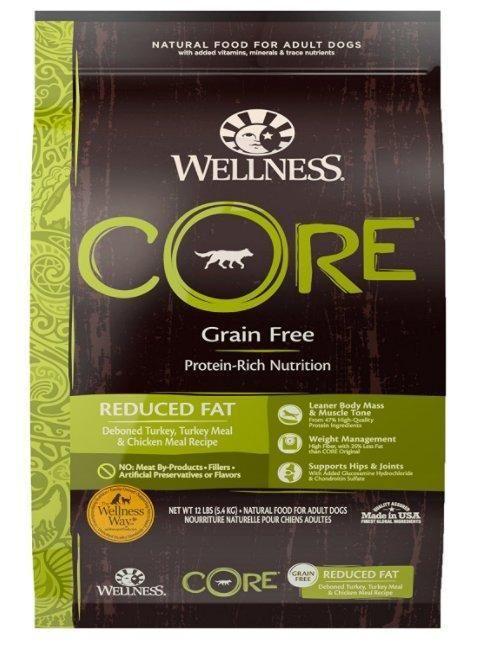 Wellness Core Reduced Fat Turkey Adult Dog Dry Food 12 Lbs