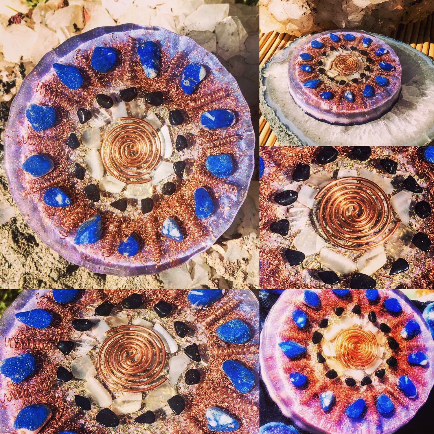 Collage of my new 3rd Eye activation charging plate ...