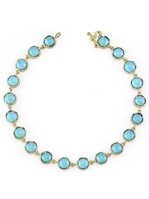 18kt gold & turquoise bracelet Irene Neuwirth kpuYK