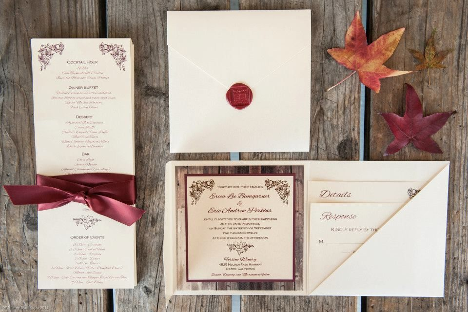 Winery Wedding Invitations Weddings Sleepy Hedgehog Press