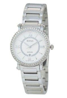Wanita > Jam Tangan > Analog > Bonia - Jam Tangan Wanita - B10146-2313S - Silver White Dial > Bonia