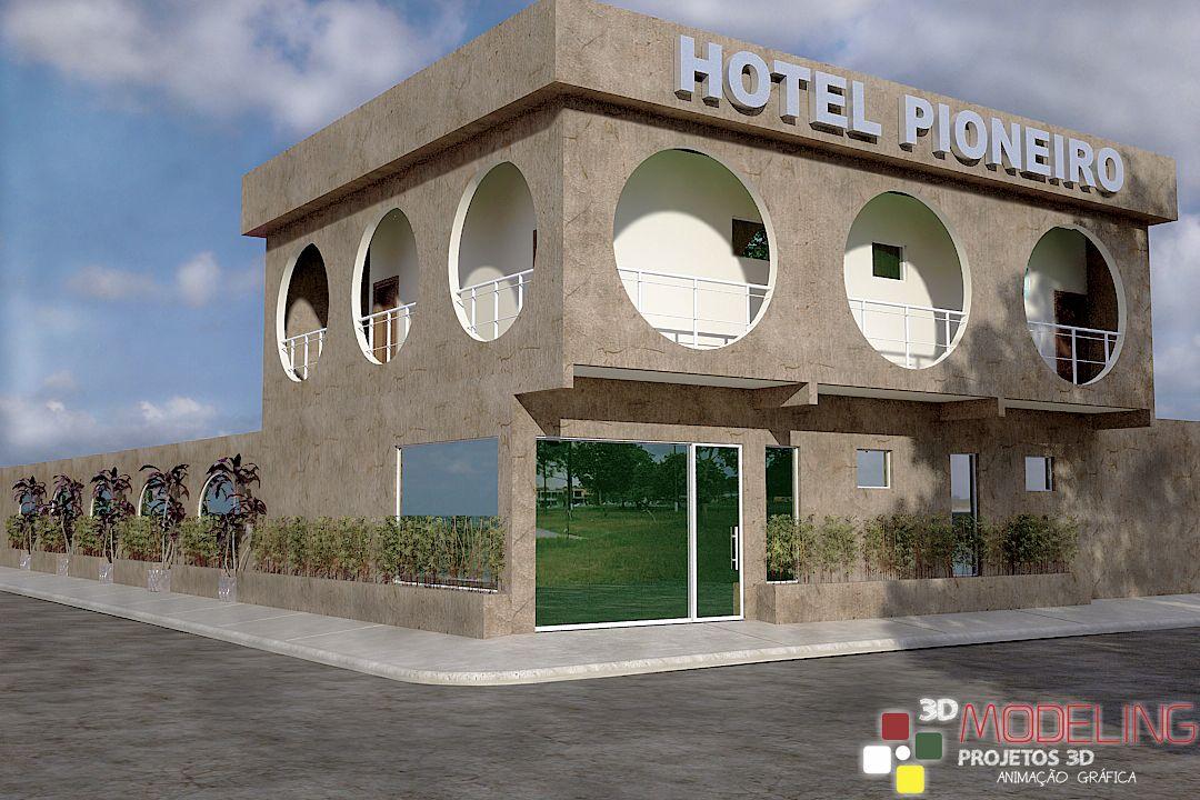 Modelagem 3D - Hotel Pioneiro.