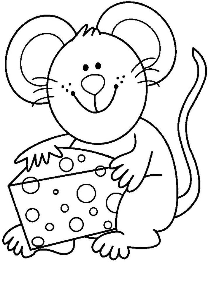 Rat Printable Coloring Page Rat Has A Larger Size Than Mice Like A Mole Rat With A Long Hairy Animal Coloring Pages Coloring Pages Printable Coloring Pages