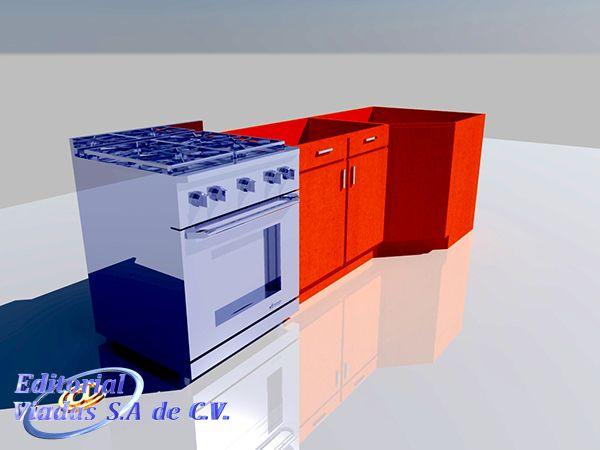 Autocad Muebles 3d De Cocina Diseño De Cocina Cocinas Y