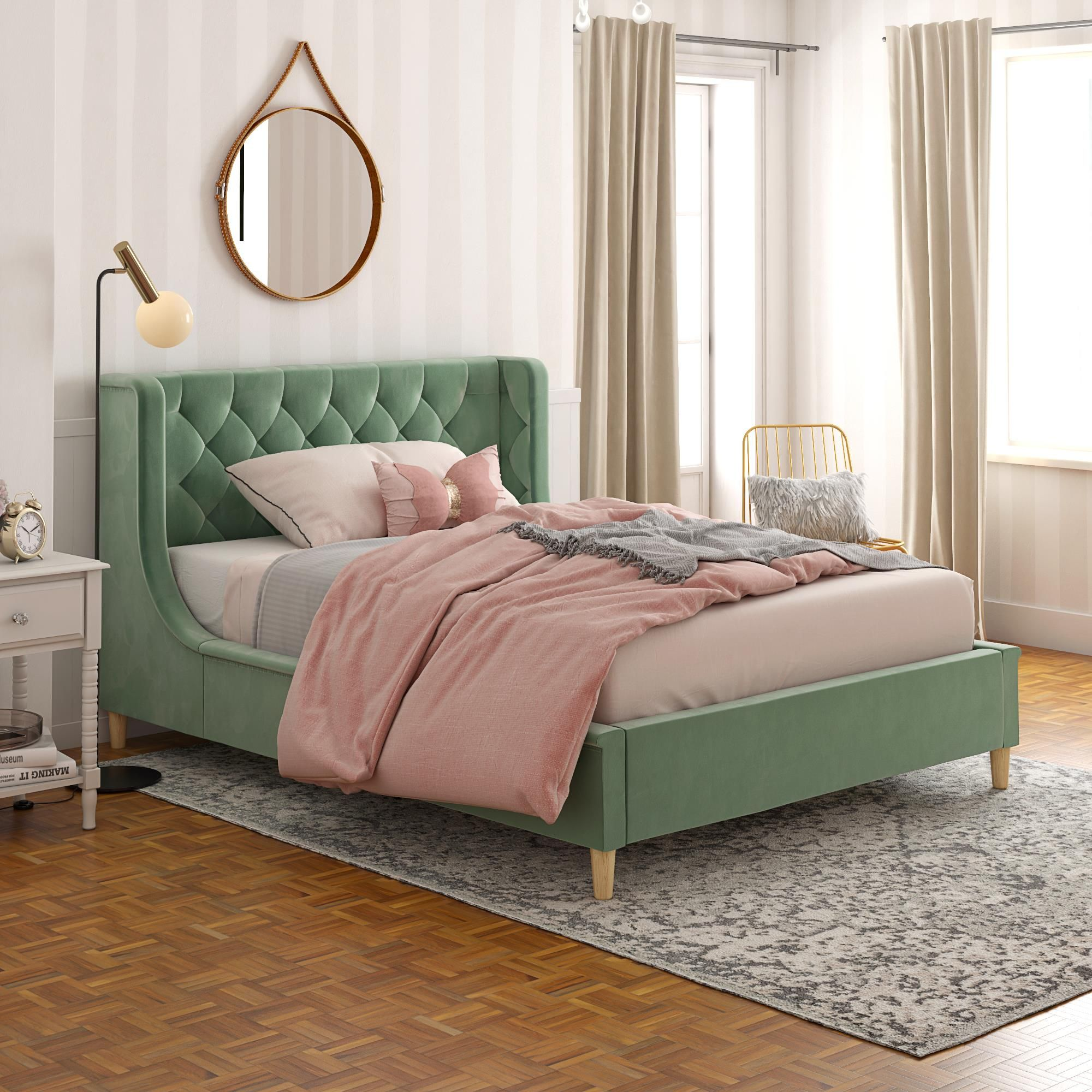 Home Full Size Upholstered Bed Full Platform Bed Upholstered Beds