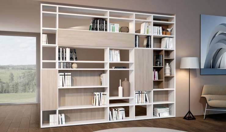 Libreria componibile in nobilitato mod. Systema di soloLibrerie ...
