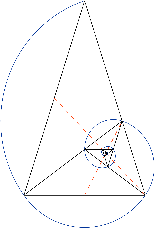File Golden Triangle And Fibonacci Spiral Svg Wikimedia Commons Fibonacci Spiral Triangle Art Geometric Drawing