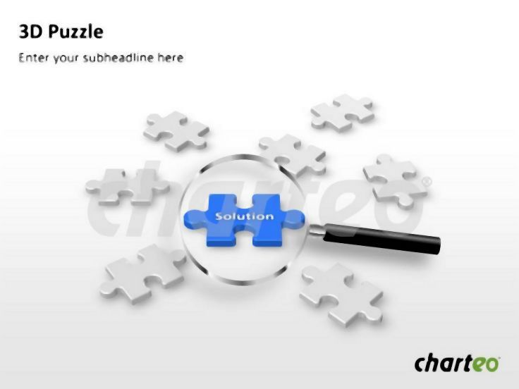 Use Our D Puzzle Powerpoint Template Containing Various Puzzle