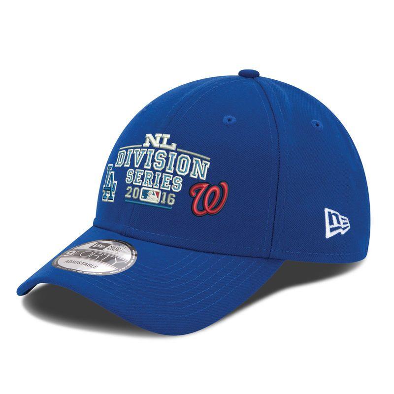 2dff386c922 New Era Los Angeles Dodgers vs. Washington Nationals Division Series  Matchup 9FORTY Adjustable Hat - Royal