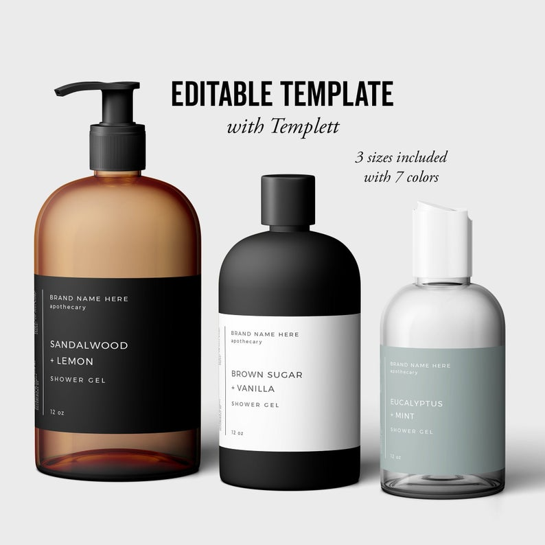 Photo of Body Product template, Shower Gel Template, Product Packaging Templett