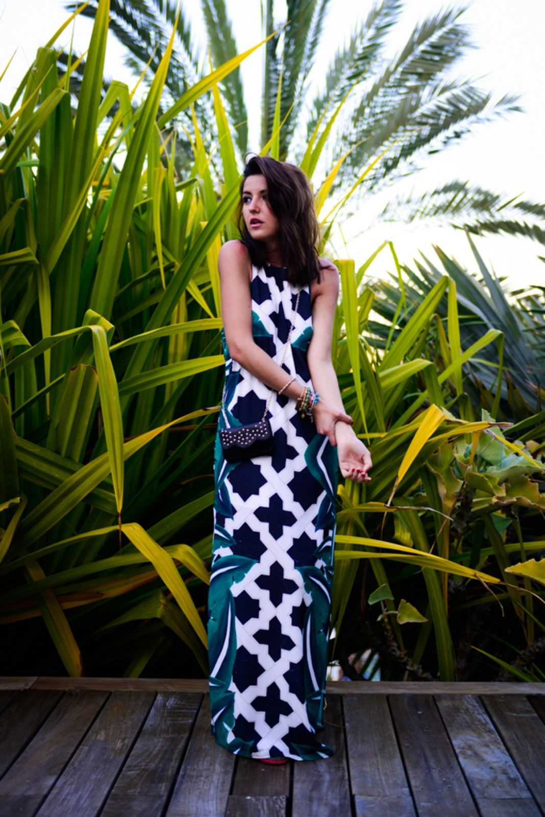 Cameo cave black and white maxi tile dress girissimacom love