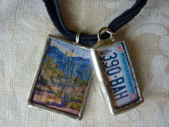 Soldered Charm Jewelry Charmed Vintage Desert ARIZONA by Margolinn, $28.00