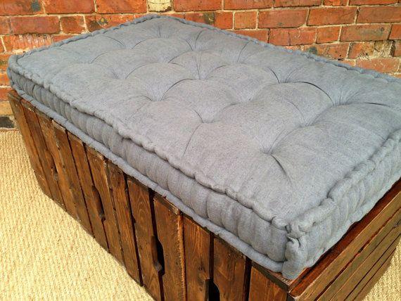 French Mattress Bench Cushion Handmade Window Box Seat Day Bed
