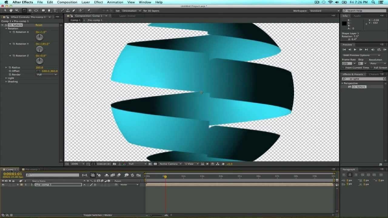 Basic tutorial on how to simulate a 3d ribbon or spiral sphere in basic tutorial on how to simulate a 3d ribbon or spiral sphere in after effects baditri Choice Image