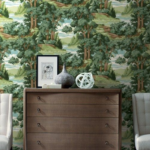 Forest Lake Scenic Wallpaper By York In 2019 Scenic