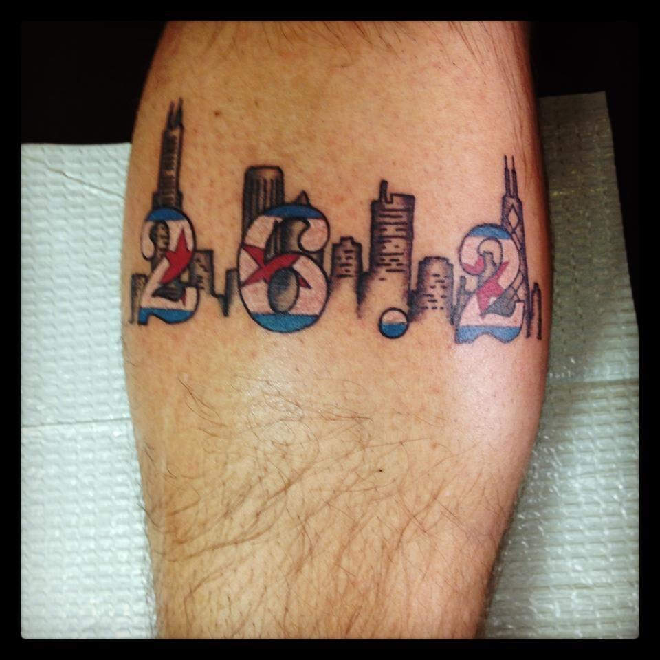 Chicago Marathon Tattoo