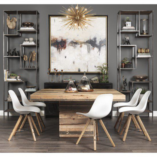 Modern Country Dining Room Table: Tahoe Square Dining Table