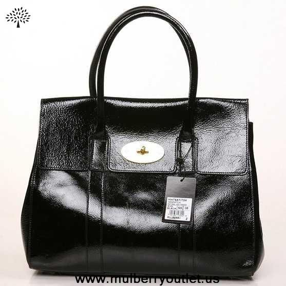 286632cca2 Womens Mulberry Bayswater Shining Leather Bag Black Outlet Canada ...